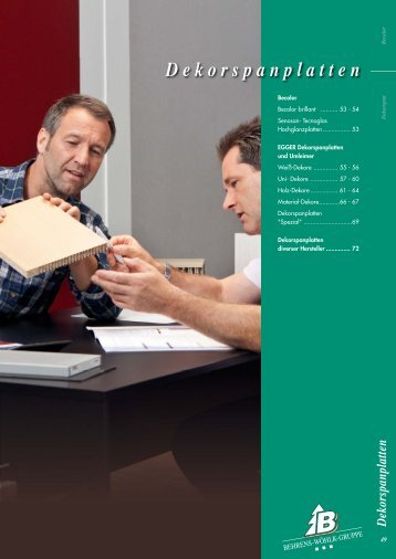 Dekorspanplatten - Behrens-Wöhlk-Gruppe