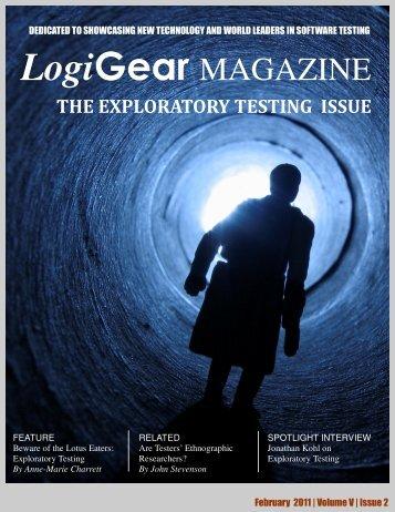 Exploratory Testing Issue - LogiGear