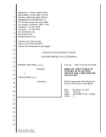 Final Amicus Brief - Mitchell v Felker - Impact Fund