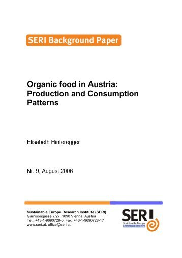 Organic food in Austria: Production and Consumption Patterns
