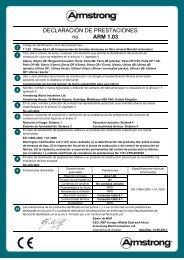 DECLARACIÓN DE PRESTACIONES no ARM 1.03