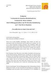 Predigt von Erzbischof Zollitsch im Wortlaut - religionsreport.de