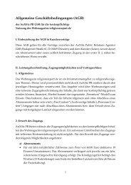 Allgemeine Geschäftsbedingungen (AGB) - religionsreport.de
