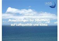 Auswirkungen der Schifffahrt auf Luftqualität und Klima