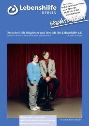 PDF Dokument Download - Ausgabe 1/2008 - Lebenshilfe Berlin