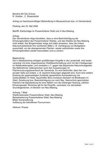 Antrag als pdf - Bündnis 90 / Die Grünen in Pöcking