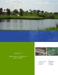 Diplomado en Ingeniería para el Tratamiento de Aguas Especiales