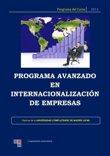 PROGRAMA AVANZADO EN INTERNACIONALIZACIÓN DE EMPRESAS