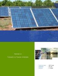 Diplomado en Formulación de Proyectos Ambientales