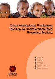 Fundraising Técnicas de Financiamiento para Proyectos ... - Redesma