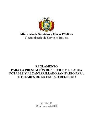 Ministerio de Servicios y Obras Públicas Viceministerio ... - Redesma