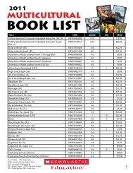 2011 Multicultural Book List