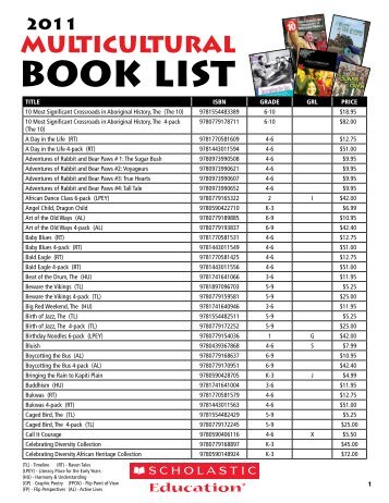2011 Multicultural Book List
