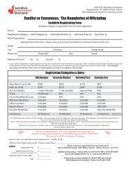 Registration Form - Sports Officials Canada