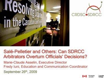 Decisions? - Sports Officials Canada