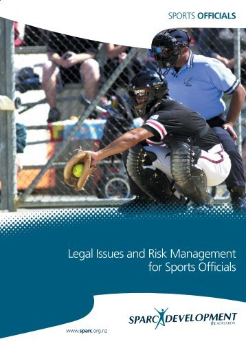 Legal Issues and Risk Management for Sports Officials