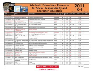 Social Responsibility Booklist - Scholastic Education