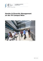 Gender & Diversity Management an der FH Campus Wien