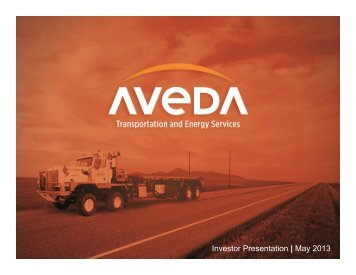 forward looking information - Aveda Transportation and Energy ...