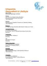 Infopoints Gesundheit & LifeStyle - HTL Hollabrunn