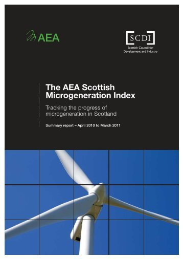 The AEA Scottish Microgeneration Index