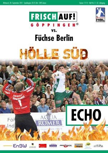 Echo Heft Nr. 3, FRISCH AUF! - FRISCH AUF! Göppingen