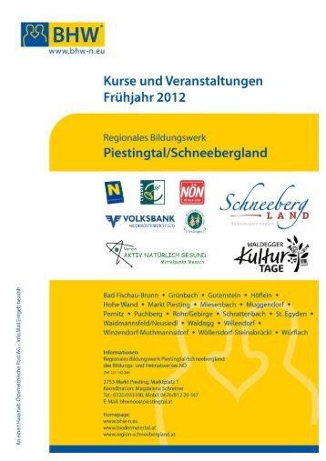 Kurse und Veranstaltungen Frühjahr 2012 - Wöllersdorf-Steinabrückl
