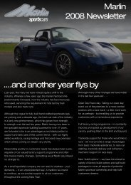 Marlin 2008 Newsletter ....and another year flys by