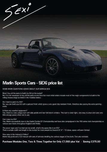 Price List AIM CarBikecdr SRTeam - Sports car price list