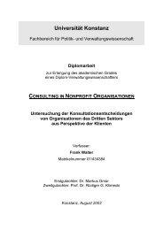 CONSULTING IN NONPROFIT ORGANISATIONEN Untersuchung ...