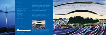 Annual Report 2009 - Maine Coast Heritage Trust
