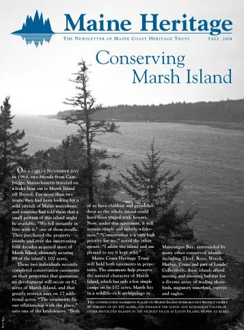 Conserving Marsh Island