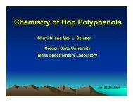 Elucidation of hop PAs by tandem mass spectrometry
