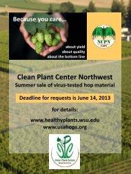 Clean Plant Center Northwest