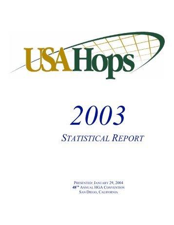 2003 HGA Statistical Report - USA Hops