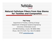 Natural Cellulose Fibers from Hop Stems for Textiles and Composites