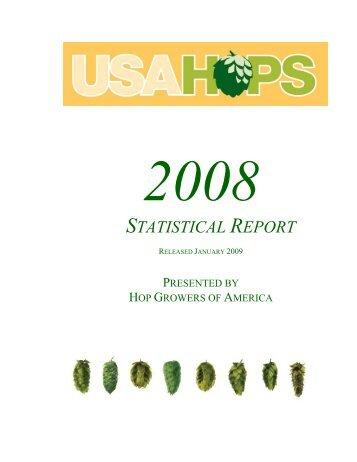 2008 HGA Statistical Report - USA Hops