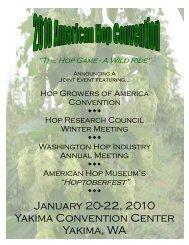 January 20-22 2010 Yakima Convention Center Yakima WA