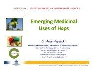 Emerging Medicinal Uses of Hops