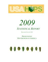 2009 HGA Statistical Report - USA Hops