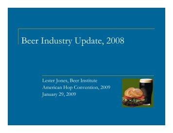 Beer Industry Update, 2008 - USA Hops