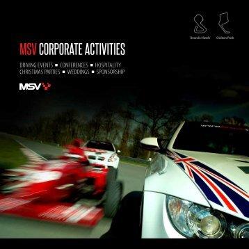 MSV CORPORATE ACTIVITIES