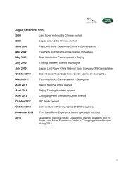 JLR in China fact sheet - Jaguar Land Rover Media Centre