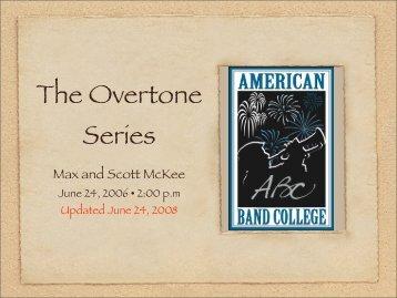 The Overtone Series