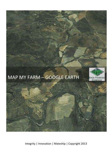 MAP MY FARM – GOOGLE EARTH