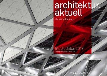 architektur.aktuell Mediadaten 2012 (DE) - Springer Architektur