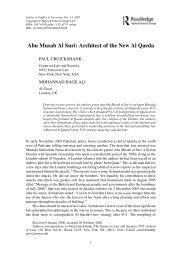 Abu Musab Al Suri Architect of the New Al Qaeda