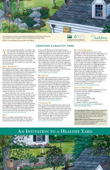 Yards AN INVITATION HEALTHY YARD