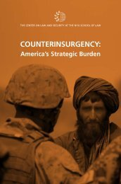 COUNTERINSURGENCY: - The Center on Law and Security