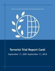 Terrorist Trial Report Card
